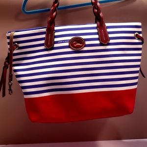 Dooney and Bourke Striped Tote